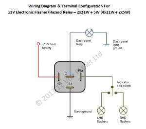 4 pin indicator relay wiring diagram trailer hitches 12v electronic flasher/hazard 21wx2 + 5w | 12 volt planet